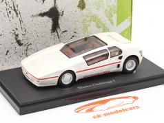 Sbarro Challenge I 建设年份 1985 白色 1:43 AutoCult