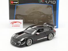 ポルシェ 911 (997) GT3 RS 4.0 年 2011 黒 / 銀 1:18 Bburago