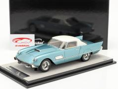 Ferrari 410 Superfast (0483SA) 1956 azurblau metallic / weiß 1:18 Tecnomodel