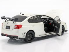 Subaru S207 NBR Challenge Package year 2015 pearl white 1:18 SunStar