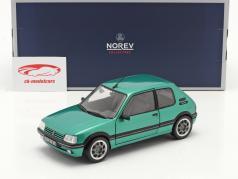 Peugeot 205 GTi Griffe Año de construcción 1990 verde metálico 1:18 Norev