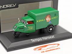Tempo Hanseat camioneta Kühne mostaza Año de construcción 1950 verde 1:43 Norev
