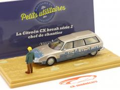 Citroen CX Break séries 2 Chef de Chantier beige métallique / bleu 1:43 Atlas