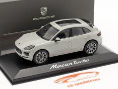 Porsche Macan Turbo year 2019 chalk grey 1:43 Minichamps