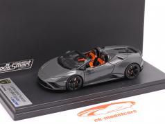 Lamborghini Huracan Evo RWD Spider Ano de construção 2019 cinzento metálico 1:43 LookSmart