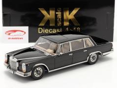 Mercedes-Benz 600 SWB (W100) Ano de construção 1963 Preto 1:18 KK-Scale