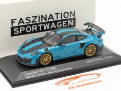Porsche 911 (991 II) GT2 RS Weissach Package 2018 miami blu 1:43 Minichamps