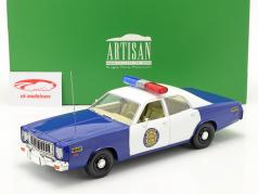 Plymouth Fury Osage County Sheriff 1975 White / blue 1:18 Greenlight