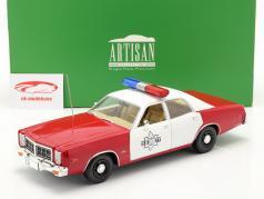 Dodge Monaco Finchburg County Sheriff 1977 weiß / rot 1:18 Greenlight