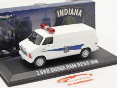 Dodge RAM B250 Van Indiana State Police 1980 white 1:43 Greenlight