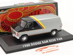 Dodge RAM B250 Van Baujahr 1980 silber / schwarz mit Streifen 1:43 Greenlight