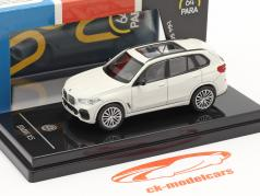 BMW X5 G05 Byggeår 2018 mineralhvid 1:64 Paragon Models