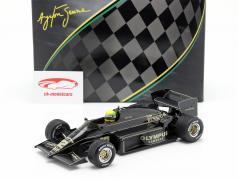 Ayrton Senna Lotus 97T #12 勝者 ポルトガル語 GP 式 1 1985 1:18 Premium X