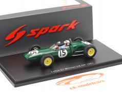 Innes Ireland Lotus 21 #15 gagnant Etats-Unis GP formule 1 1961 1:43 Spark