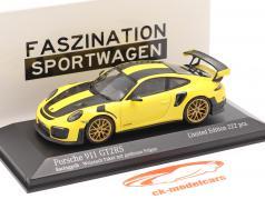 Porsche 911 (991 II) GT2 RS Weissach Package 2018 da corsa giallo 1:43 Minichamps