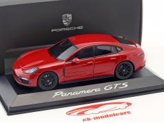 Porsche Panamera GTS Bouwjaar 2016 karmijn rood 1:43 Herpa