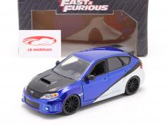 Brian's Subaru Impreza WRX STi film Fast & Furious (2009) blu / argento / nero 1:24 Jada Toys