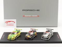 Porsche 911 GT3 R 3-Auto Set Vincitore 6h ADAC Ruhr-Pokal-Rennen 2010 1:43 Spark