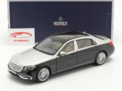 Mercedes-Benz Maybach S-Klasse S650 Año de construcción 2018 negro / plata 1:18 Norev
