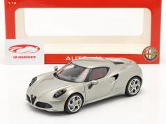 Alfa Romeo 4C Jaar 2013 grijs metallic 1:18 Autoart