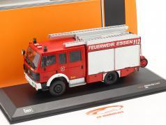 Mercedes-Benz LF 16/12 fire Department Essen year 1995 red 1:43 Ixo