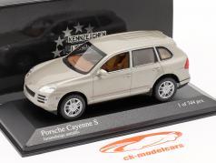 Porsche Cayenne S Ano 2007 bege 1:43 Minichamps