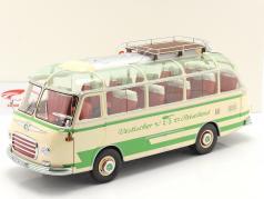 Setra S6 バス Vestischer Reisedienst 建設年 1954-63 ベージュ / 緑 1:18 Schuco