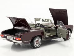 Mercedes-Benz 280 SL Pagode (W113) Byggeår 1963-71 bordeaux rød 1:18 Schuco