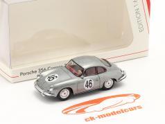 Porsche 356 Carrera 2 C #46 sølv metallisk 1:64 Schuco