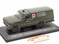 Ford F-100 Militær ambulance Argentina Byggeår 1969 oliven 1:43 Altaya