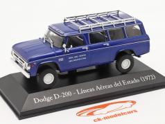 Dodge D-200 状态 航空公司 阿根廷 1972 蓝色 1:43 Altaya