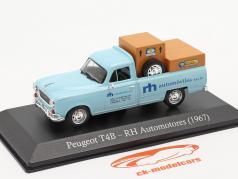Peugeot T4B Pick-Up RH Automotores 1967 光 蓝色 1:43 Altaya
