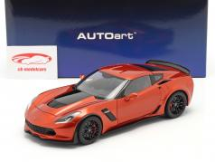 Chevrolet Corvette C7 Z06 Byggeår 2014 orange 1:18 AUTOart