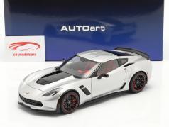 Chevrolet Corvette C7 Z06 Année de construction 2014 argent 1:18 AUTOart