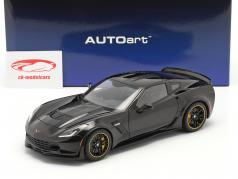 Chevrolet Corvette C7 Z06 C7R Edition 2015 glans sort 1:18 AUTOart
