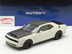 Dodge Challenger SRT Demon Année de construction 2018 blanc / noir 1:18 AUTOart