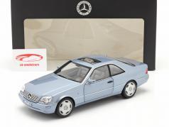 Mercedes-Benz CL 600 Coupe (C140) Ano de construção 1996-1998 azul pérola metálico 1:18 Norev