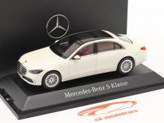 Mercedes-Benz Classe S (V223) Année de construction 2020 designo diamant blanc brillant 1:43 Herpa