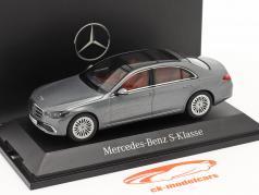 Mercedes-Benz Classe S (V223) Ano de construção 2020 cinza selenita 1:43 Herpa