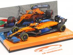 L. Norris McLaren MCL35 #4 1. Podium Østrigsk GP formel 1 2020 1:43 Minichamps