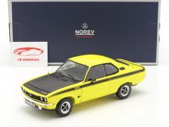 Opel Manta GT/E Bouwjaar 1975 geel / zwart 1:18 Norev