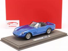 Ferrari 275 GTS/4 NART Steve McQueen 1967 blauw metalen 1:18 BBR