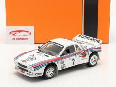 Lancia 037 Rally #7 2-й Rallye акрополь 1983 Alen, Kivimäki 1:18 Ixo