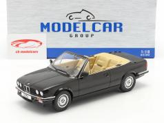BMW 3 Serie 325i (E30) Cabriolet Bouwjaar 1985 zwart 1:18 Model Car Group