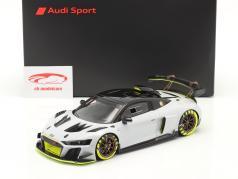 Audi R8 LMS GT2 Presentation Car 2020 серый / чернить / желтый 1:18 Spark