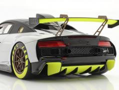 Audi R8 LMS GT2 Presentation Car 2020 Grå / sort / gul 1:18 Spark