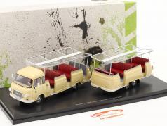Barkas B 1000 Aussichtswagen Expreß 800 Année de construction 1965 jaune clair 1:43 AutoCult