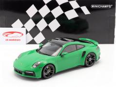 Porsche 911 (992) Turbo S year 2020 python green 1:18 Minichamps