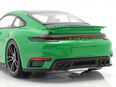 Porsche 911 (992) Turbo S 建設年 2020 python 緑 1:18 Minichamps