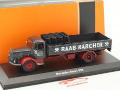 Mercedes-Benz L-325 Raab Karcher avec Charge foncé grise / rouge 1:43 Ixo / 2e choix